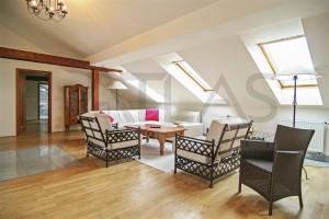 obývací pokoj - Pronájem bytu 4+1 Praha 1 - Staré Město, Řeznická