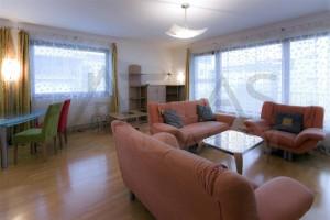 obývací pokoj s pohovkami - Pronájem bytu 3+kk Praha 6 - Vokovice, Červený Vrch, ulice Nepálská