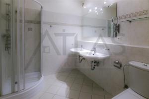 Koupelna se sprchou - Pronájem bytu 3+kk Praha 6 - Vokovice, Červený Vrch, ulice Nepálská