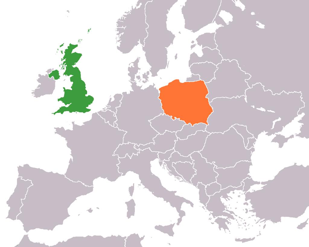 Diplomatické vztahy mezi Polskem a Velkou Británií byly navázány 15. července 1919.