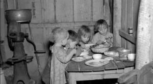 Vánoční večeře během Velké hospodářské krize