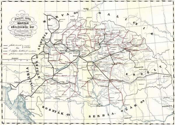 Návrh hraběte Istvána Széchenyiho na rozvoj železniční sítě